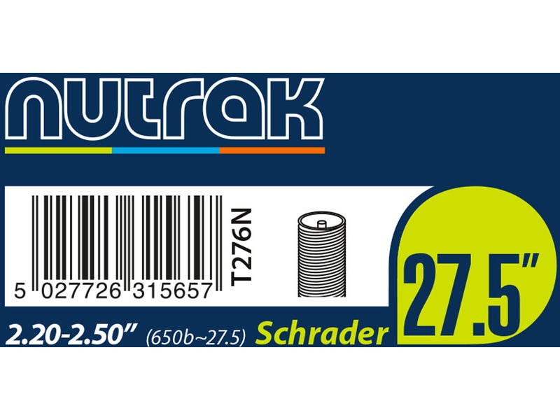 NUTRAK 27.5 Inch or 650B x 2.2 - 2.5 Schrader inner tube click to zoom image