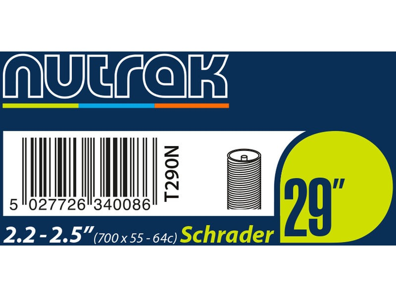 NUTRAK 29 X 2.2 - 2.5 inch Schrader inner tube click to zoom image