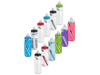 CAMELBAK Podium Chill Clear Red 610 Insulated Bottle click to zoom image