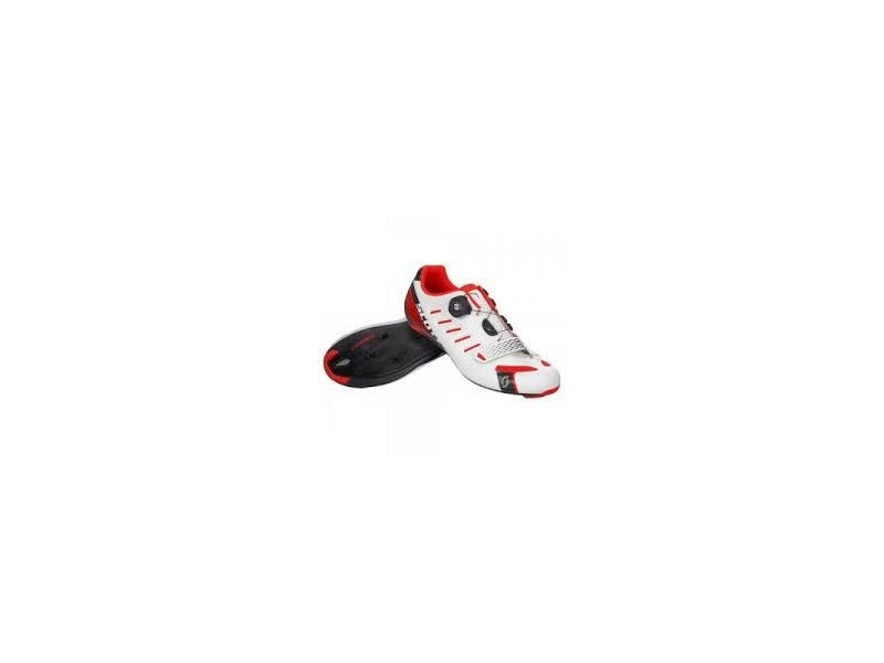 SCOTT Road Team Boa Gloss White/Neon Red click to zoom image