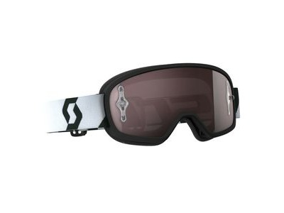SCOTT BUZZ MX PRO GOGGLE  black/white / silver chrome works  click to zoom image
