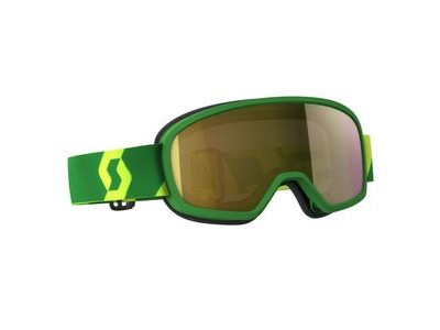 SCOTT BUZZ MX PRO GOGGLE  green/yellow / gold chrome works  click to zoom image