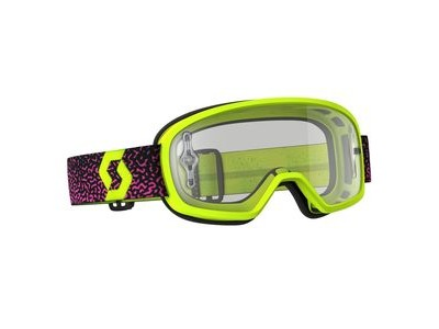SCOTT BUZZ MX PRO GOGGLE  yellow/pink / clear works  click to zoom image