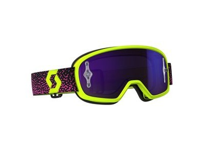 SCOTT BUZZ MX PRO GOGGLE  yellow/pink / purple chrome works  click to zoom image
