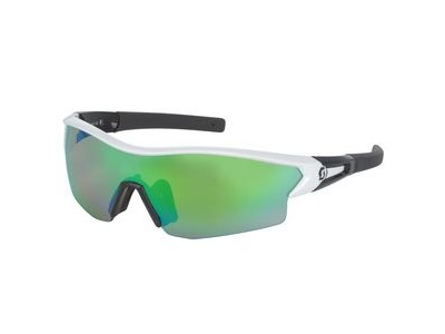 SCOTT Scott Leap Glasses  White Glossy/Black/Green Chrome  click to zoom image