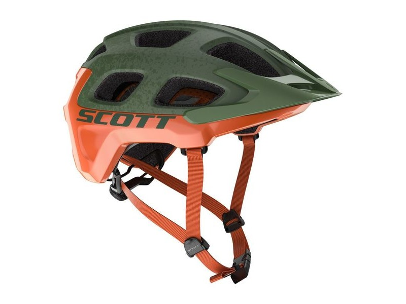 SCOTT Vivo Plus Helmet Metal Green/Orange click to zoom image