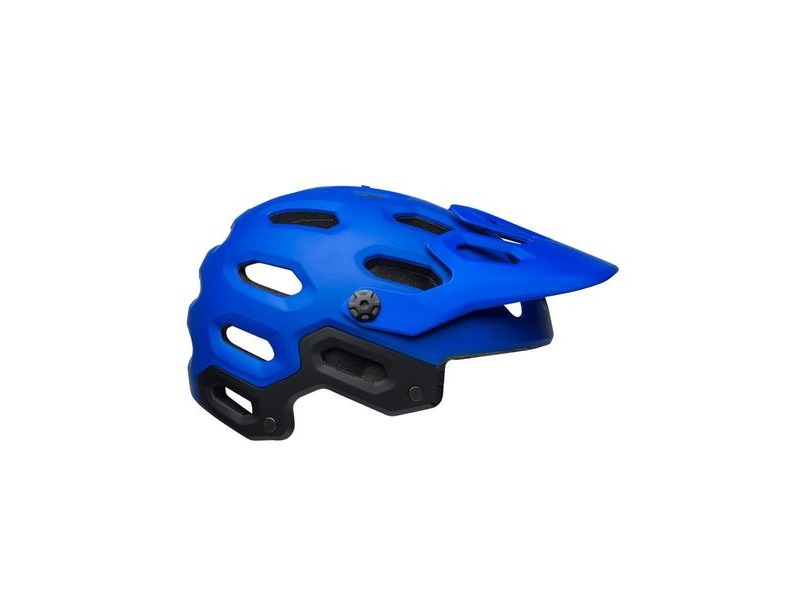 BELL Super 3 MTB Helmet 2019: Matte Blues click to zoom image