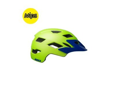 BELL Sidetrack Mips Youth Helmet 2019: Matte Bright Green/Blue Unisize 50-57cm