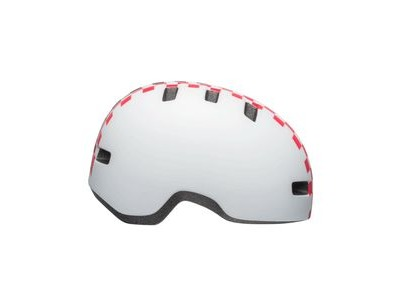 BELL Lil Ripper Toddler Helmet 2019: Checkers Matte White/Pink Unisize 45-51cm