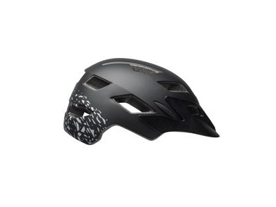 BELL Sidetrack Child Helmet 2018: Matt Black/Silver Fragments Unisize 47-54cm