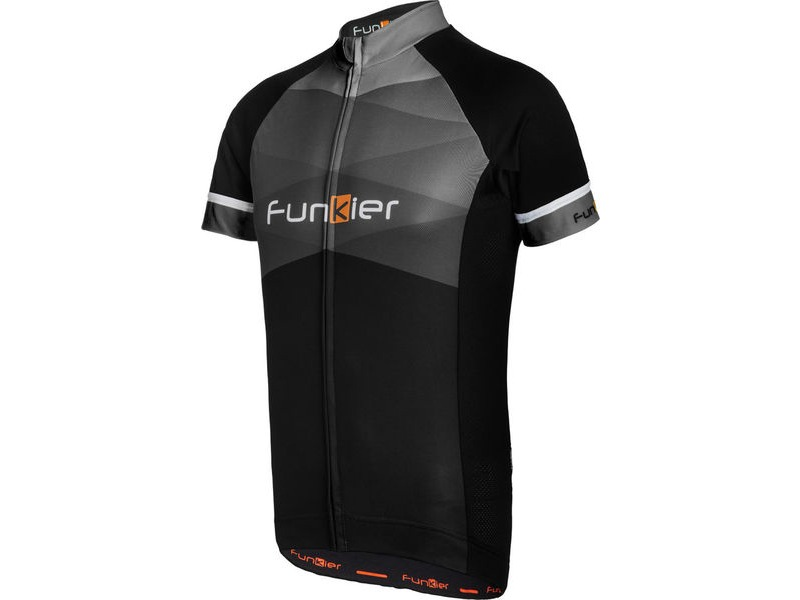 FUNKIER Rideline Gents Short Sleeve Jersey Black/Grey click to zoom image