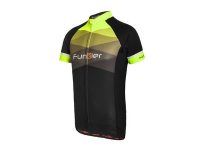 FUNKIER Rideline Gents Short Sleeve Jersey 2017 Black/Yellow