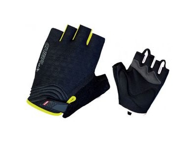 CHIBA Womens Lady Air Plus Mitts Black/Neon Yellow